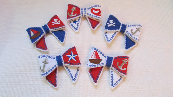 Nautical or Pirate Bows in the hoop