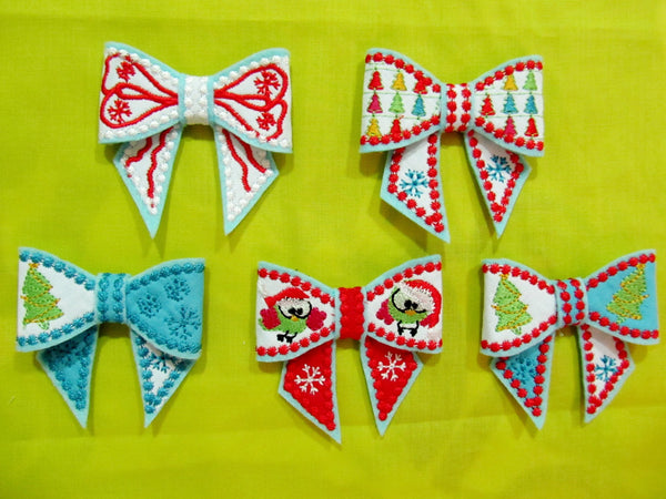Christmas Bows In the hoop project collection