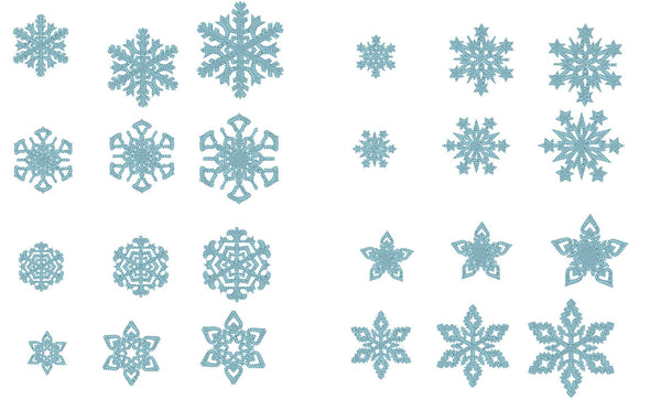 Single 8 Snowflakes, 8 types
