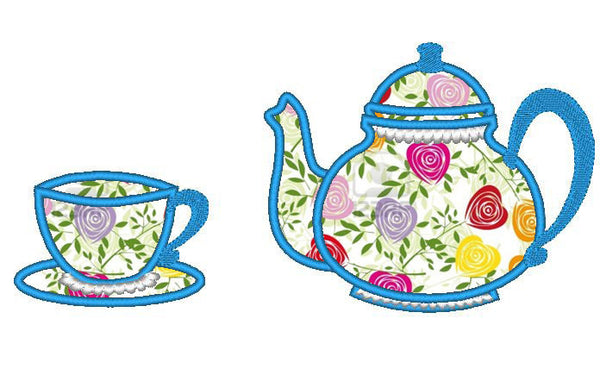 Tea cup and teapot single files collection