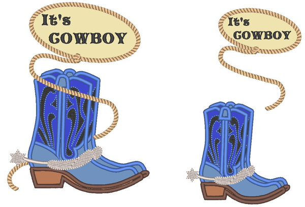 Cowboy boots applique collection