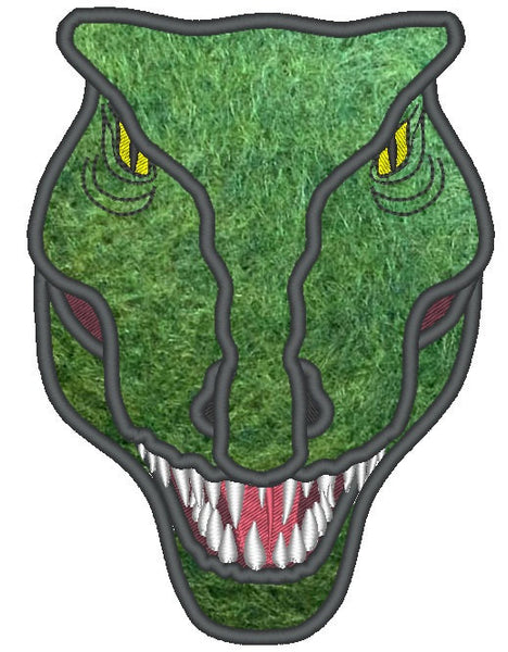 T-rex Dinosaur Face embroidery and applique