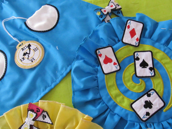 Tea party coasters in-the-hoop and Play cards