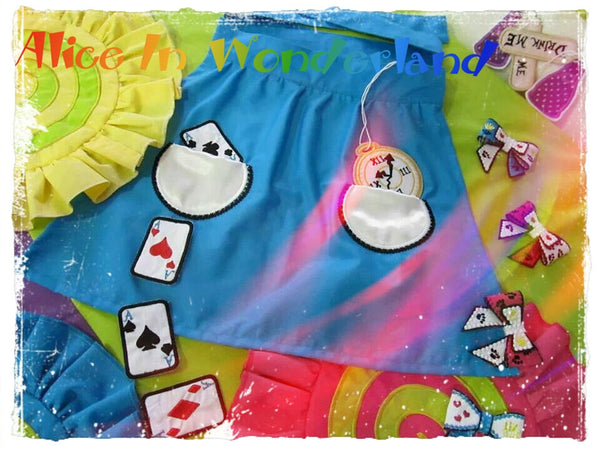 Alice Apron pocket embroidery in the hoop embroidery
