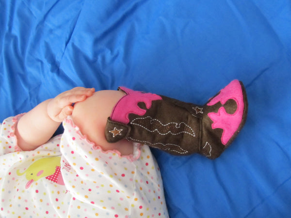 Baby Cowboy boots - Felt In the hoop project