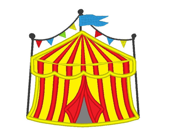 Big top Circus Tent embroidery applique