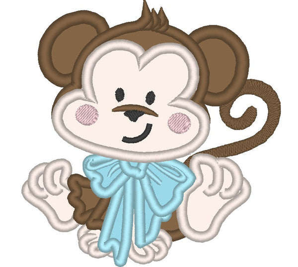 Baby Monkey embroidery and applique