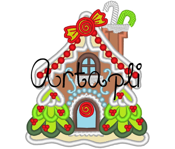 Christmas Ginger house applique