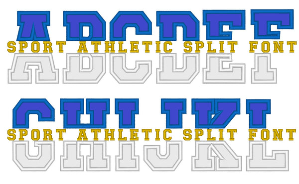 Block Athletic Collegiate Split applique font