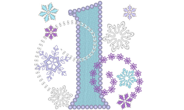 Frozen Swirls Birthday Numbers for Little Princesses