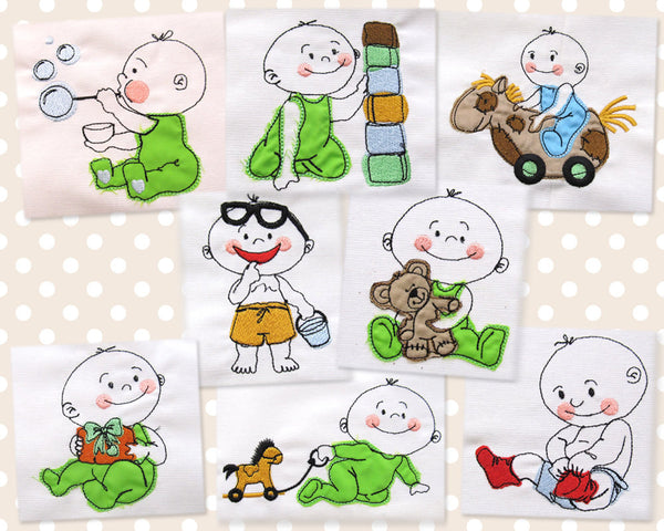 Baby boy collection quick stitch