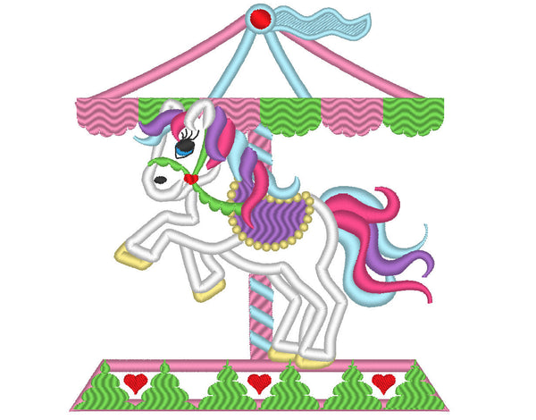 Amazing Carousel horse applique