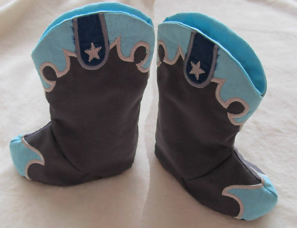 New ultimate designed Easy Baby Cowboy boots - In the hoop project