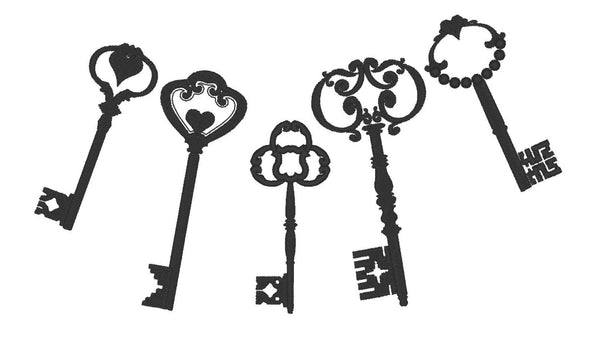 Skeleton keys for steampunk style projects