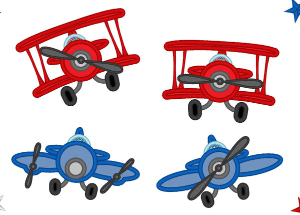 Airplanes - collection of 4 single multisized airplanes