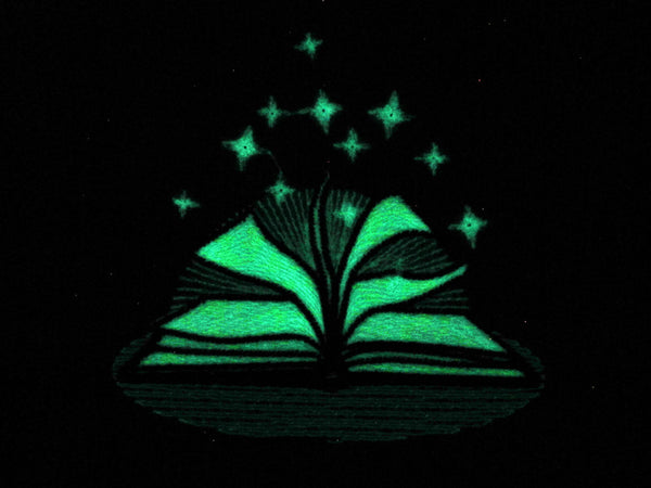 Fairytale book / Glow in the dark special designed machine embroidery