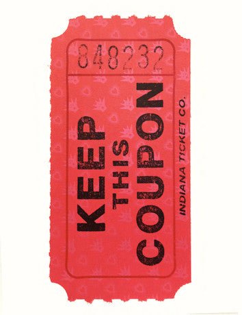 ASVP: Keep This Coupon (Red)