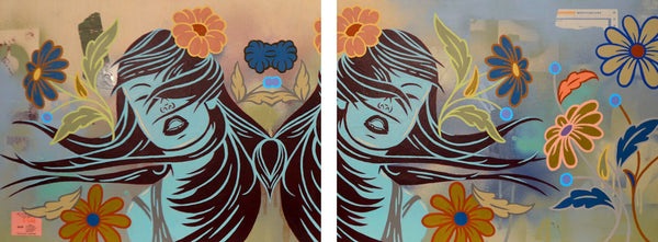 Jay Byrnes: Wildflowers (Diptych)