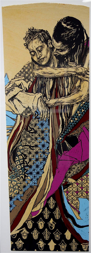 Swoon Switchback Sisters limited edition screen print