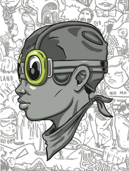 Hebru Brantley: Grey Fly