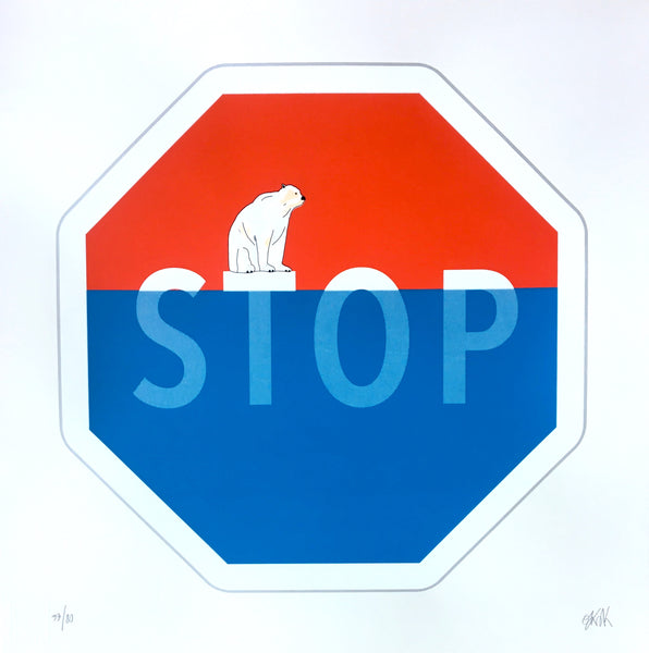 OakOak: STOP Screen Print