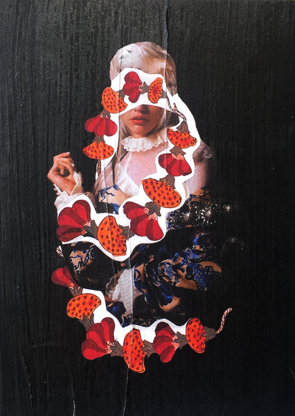 Laura English: Untitled (Collage on Wood)