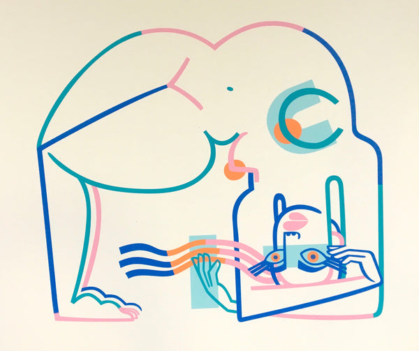 Jillian Evelyn: 'Cycles' Screen Print