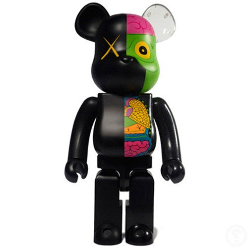 KAWS: Dissected Companion Bearbrick 1000% (Black)