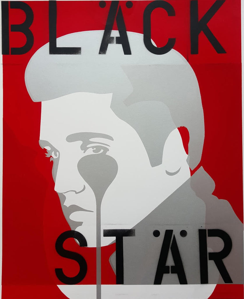 Pure Evil Pure Elvis Black Star Elvis Presley limited edition artwork