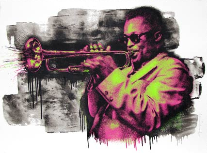 Mr. Brainwash: Miles Davis (Pink/Green)