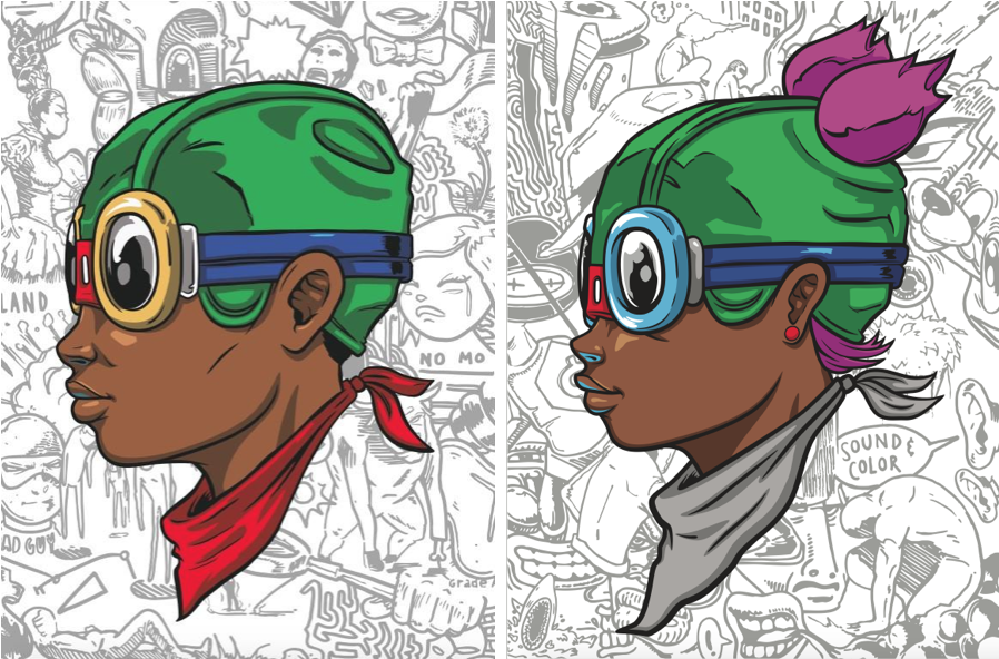 Hebru Brantley: Beyond Kirby Matching Number Print Set (Fly Boy & Lil Momma)