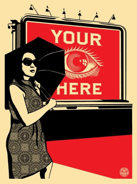 Shepard Fairey: Obey Billboard Eye