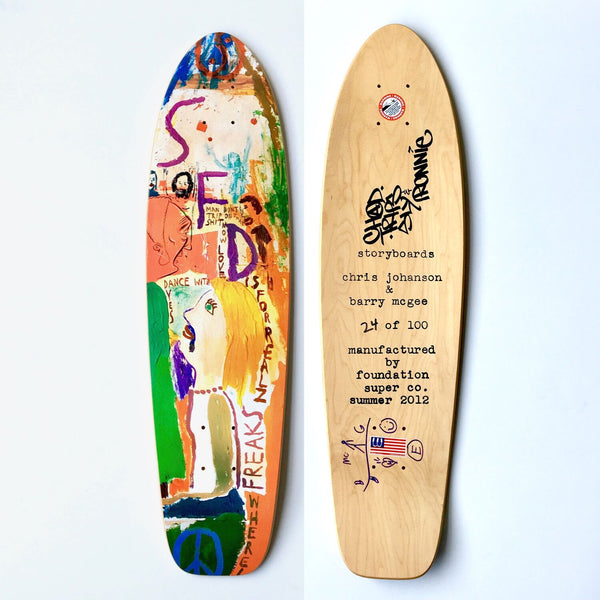 Barry McGee x Chris Johanson x Foundation Super Co: And Your Friends Are My Friends Skate Deck