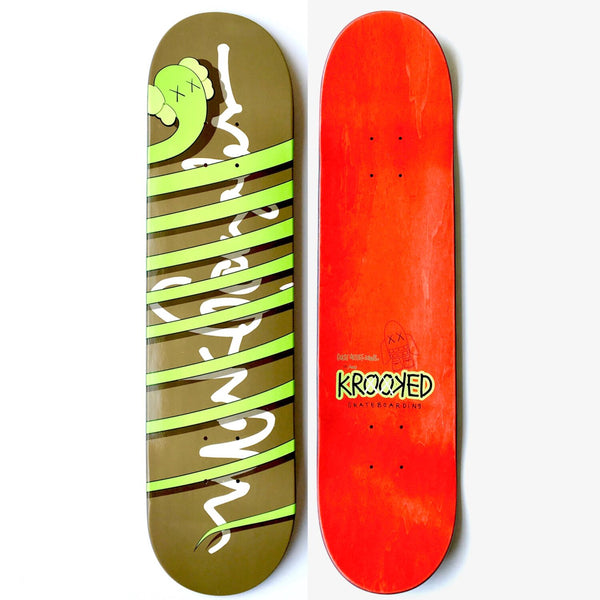 KAWS x Mark Gonzalez x Krooked Skateboards: Bendy Skate Deck