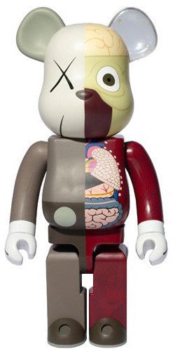 KAWS: Dissected Companion Bearbrick 100% (Red/Brown)