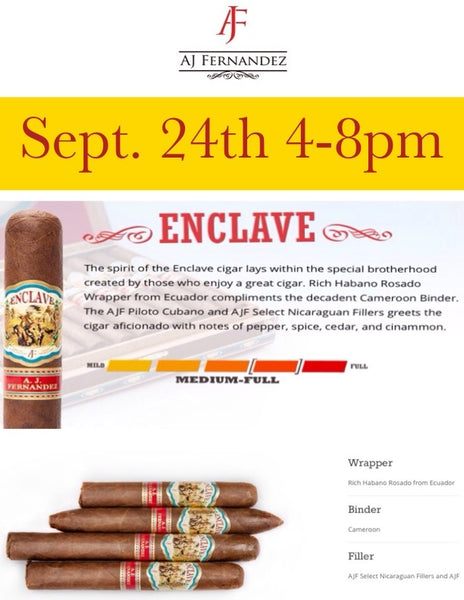 A.J. Fernandez Cigar Event: Featuring the new Enclave Cigar