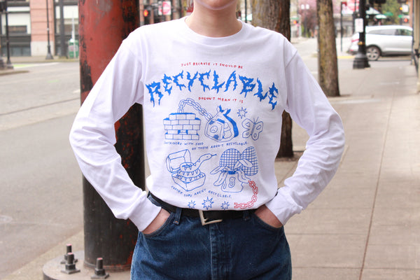 Recyclable Artist Tee with Clare Davidovich
