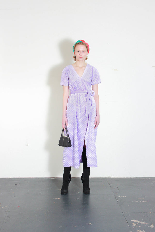 Lilac Purple Soft Wrap Dress