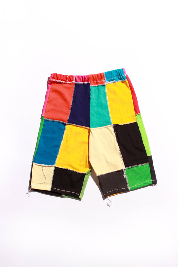 patchwork bike shorts