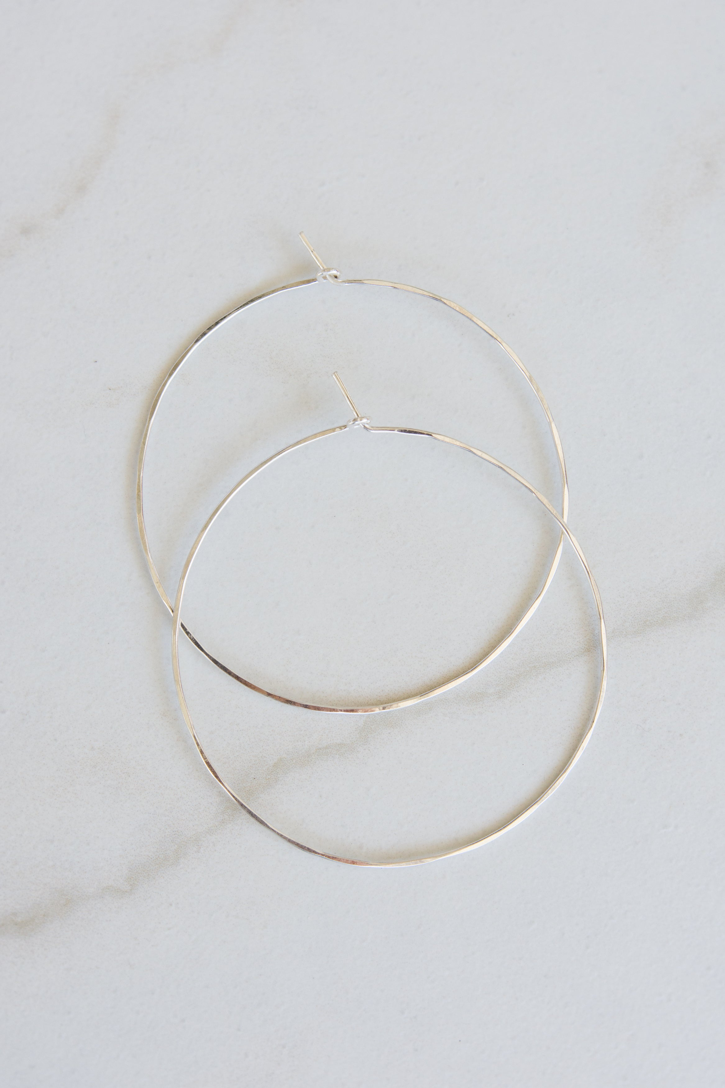Thin Sterling Silver Wire Hoops