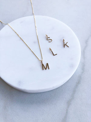 Initial Necklace (choose charm + chain)