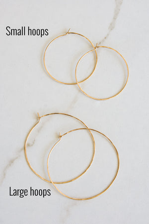 Thin Gold Wire Hoops