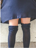 Ruffled Knee High Socks