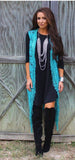 Captivating Crochet Long Vest