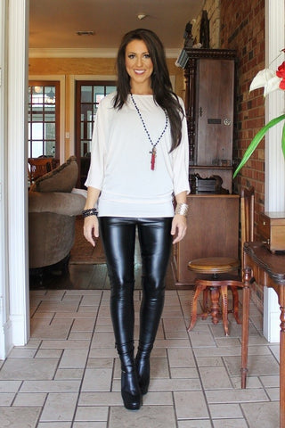 Liquid Leather Leggings.