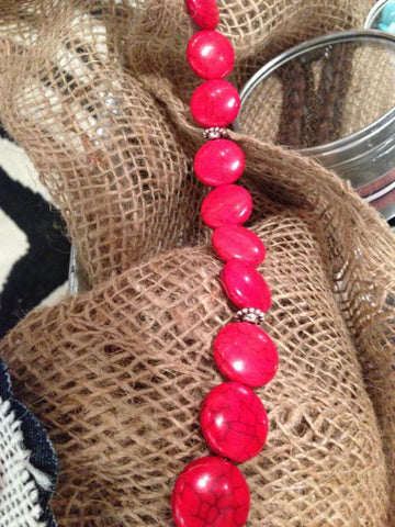 Secret Straps-Red Beaded Straps