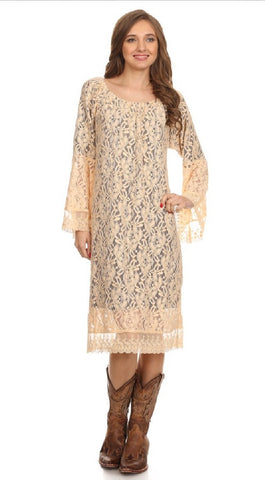 With Love Dress-Beige