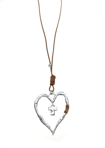 Sweet Lola Heart/Cross Necklace