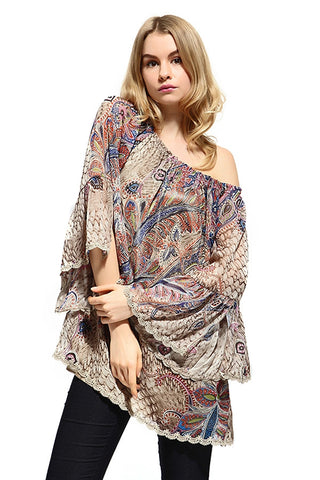 Paisley Paradise Plus size Top
