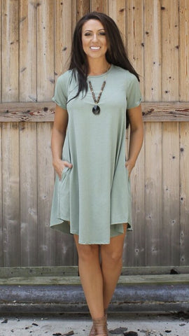 Addictive Dress-Light Olive